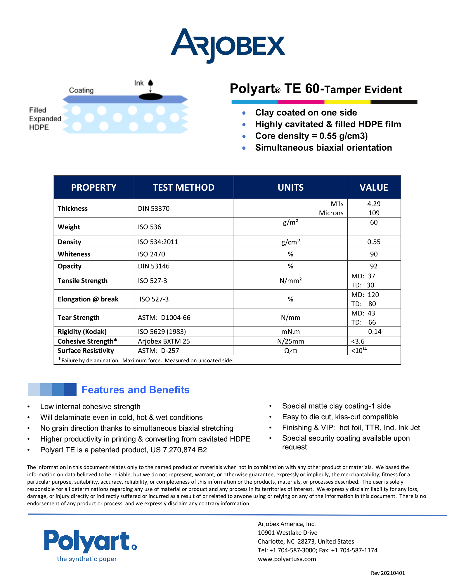 Arjobex Data Sheet_Polyart TE60